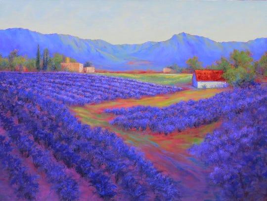 Jeri Desrochers' Enchanted Lavender painting.