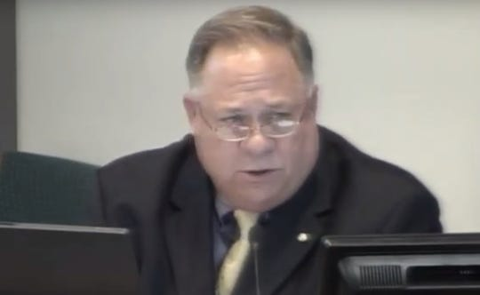 In video footage from a Las Cruces Public Schools board meeting on December 16, 2008, then-Superintendent Stan Rounds asks the school board to approve a lease-to-own agreement with Trinity Properties, LLC.