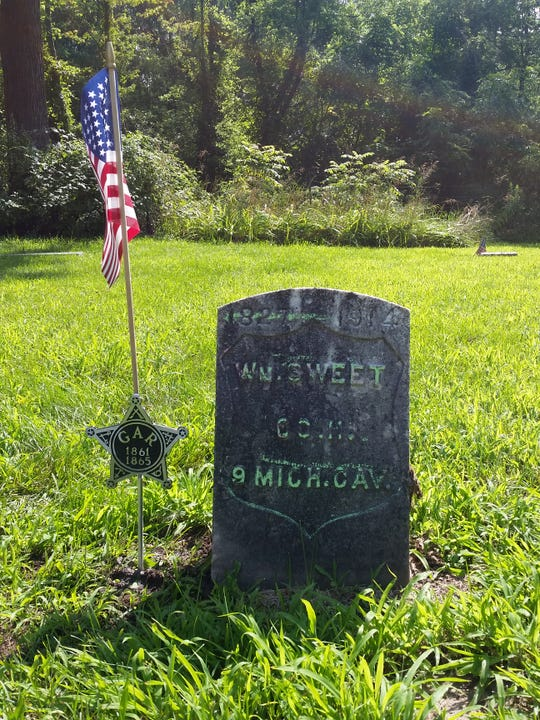 Civil War Private William Sweet, who is buried in Worden Cemetery, will be honored during a dedication ceremony Aug. 17, 2019.