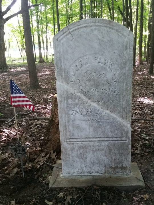 John Parks, buried in the Olds Cemetery is being honored as a veteran of the War of 1812 during a dedication ceremony planned for Aug. 17, 2019.