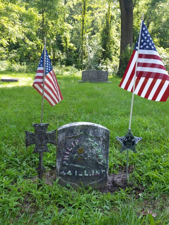 Philip Terry is buried in the Worden Cemetery. The Civil War veteran who fought for the Union is being honored Aug. 17, 2019 during a dedication ceremony at Jarvis School.
