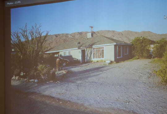 A photo of the home where Christy McKissic and her mother, Renee Metcalf, were murdered in TwentynIne Palms on March 24, 2017.