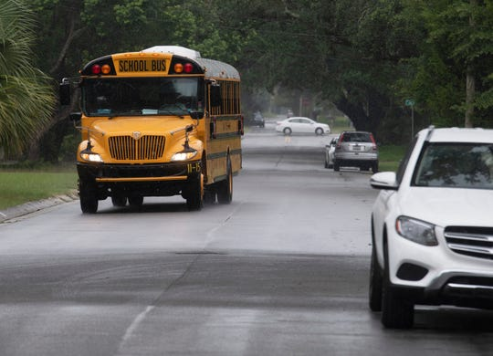 With school back in session, school buses are back on the roads in Escambia and Santa Rosa counties.