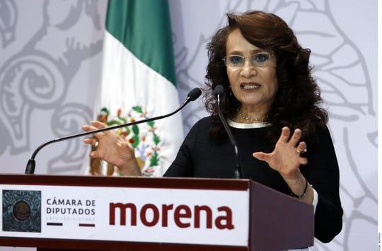 Dolores Padierna, vicepresidenta de la Mesa Directiva de la Cámara de Diputados.