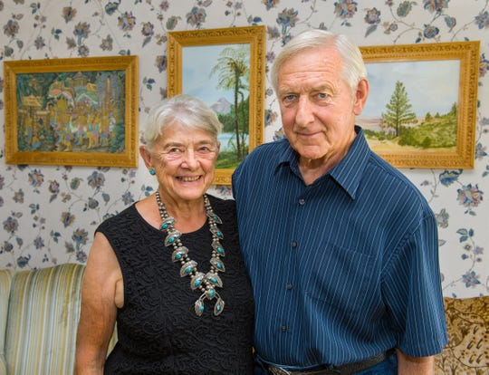 Thomas and Judith Price inside their Yerington home on their 60th wedding anniversary.