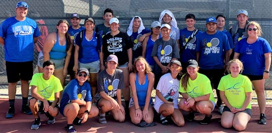 The San Angelo Lake View High School tennis team is 4-0 in District 5-4A play.