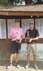 SDGA Amateur Champion Jack Lundin (left) and runner-up Russell Pick.