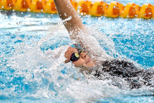 SMAC swimmer and Waynesboro senior Kristen Wagner had three national championship qualifying times at a recent swim meet in Maryland.