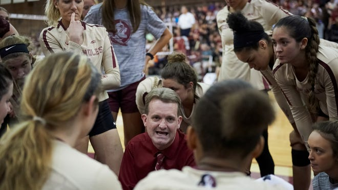 FSU volleyball coach Chris Poole's Seminoles were picked to finish second in the ACC this season.