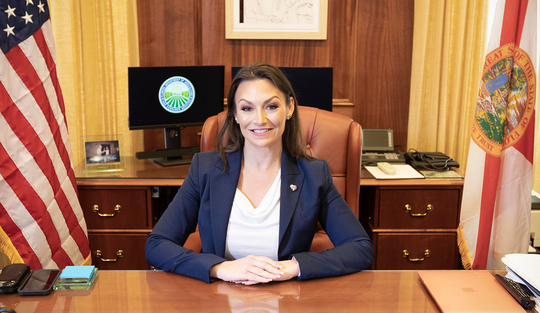 Nikki Fried was elected Florida's Commissioner of Agriculture and Consumer Services in 2018.
