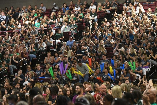 Thousands of VUSD employees gathered to kick off the 2019-2020 school year at the district's annual convocation ceremony on Aug. 12, 2019.