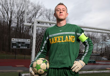 The Journal News Westchester boys soccer player of the year Steven Reiche, a senior at Lakeland High School, is photographed at Lakeland High School in Shrub Oak on Nov. 29, 2011. ( Xavier Mascareñas / The Journal News )
