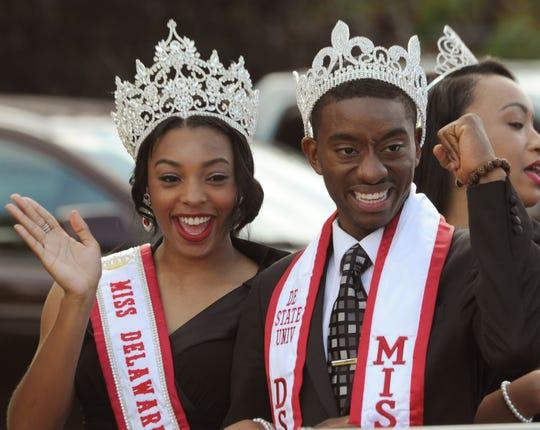 Miss Delaware State University Jamila Mustafa of Wilmington and Mr. Delaware State University James Jones in 2014.