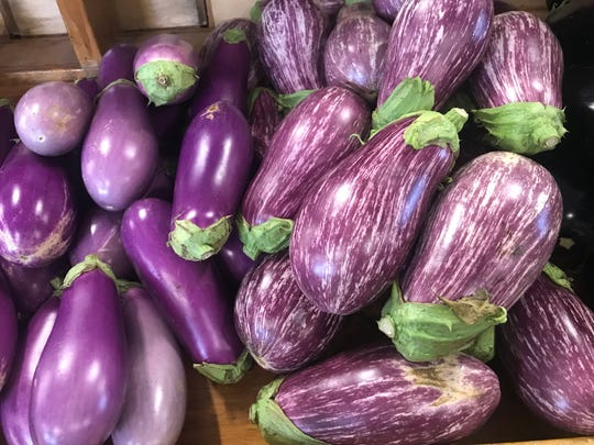 Pete's Produce in West Chester, Pennsylvania, had a gorgeous selection of eggplants.