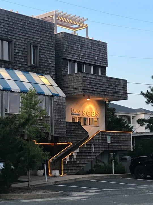 Two Seas restaurant in Dewey Beach offers views of the ocean and the bay.