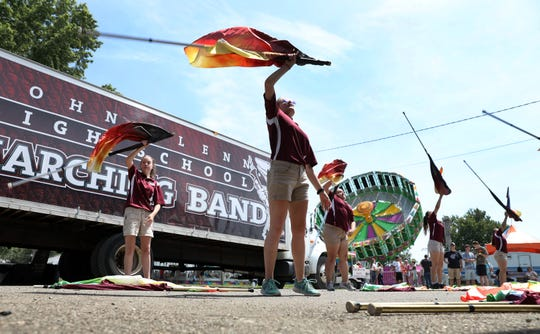 The John Glenn High School Marching Band performed at the Muskingum County Fair on Monday. To view more photos from the fair, visit www.zanesvilletimesrecord.com.