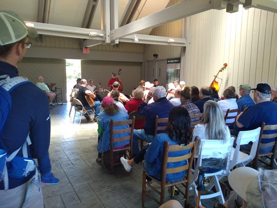 In the Blue Ridge Music Center's covered breezeway, throughout the year, free live music is offered noon to 4 p.m. daily.
