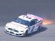Aug. 11: Sparks fly from the No. 2 Ford of Brad Keselowski after a tire went down near the end of Stage 2 of the Consumers Energy 400. Keselowski spun out but managed to keep his car off the wall at Michigan International Speedway.