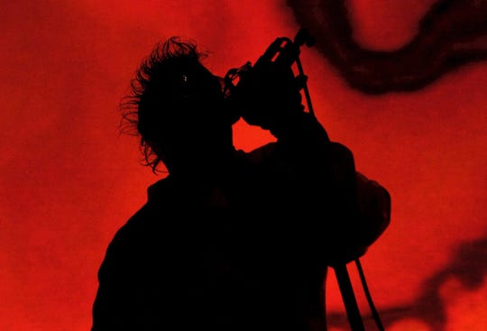 Maynard James Keenan, the lead vocalist for the progressive metal band Tool, sings at the Pensacola Civic Center.
