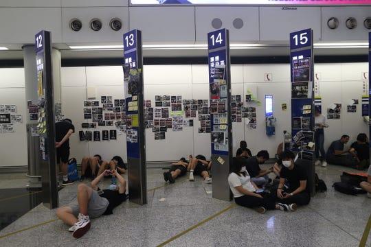 Protesters occupy Hong Kong Chek Lap Kok International Airport in Hong Kong.