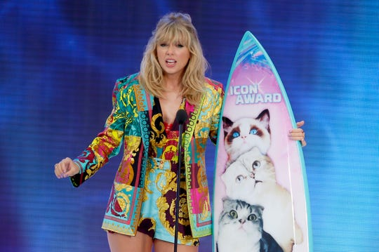 Taylor Swift accepts the Icon award at the Teen Resolution Awards Aug. Eleven, 2019, in Hermosa Coastline, Calif.