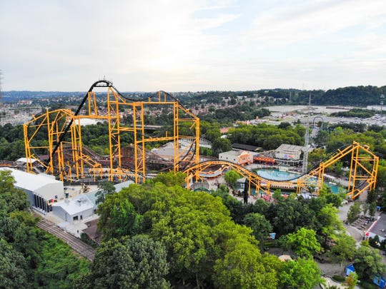 """The long and linear Steel Curtain is known as an """"out and back"""" coaster."""