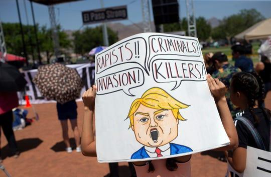 Protest in El Paso, Texas, on Aug. 7, 2019.
