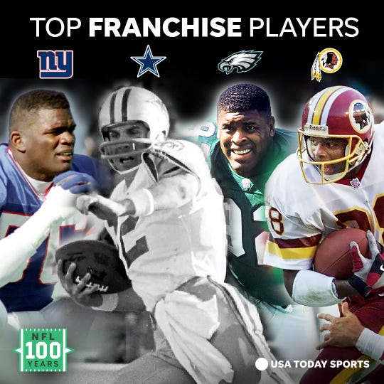 The best players of all time for the four franchises in the NFC East.
