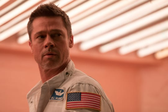 "Brad Pitt plays an astronaut who ventures into space to find his dad and save the world in the sci-fi film ""Ad Astra."""