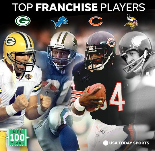The best player from each franchise in the NFL's NFC North division.