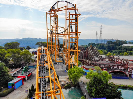 The latest attraction at Kennywood, a theme park just outside of Pittsburgh, is the Steel Curtain. The Pittsburgh Steelers-themed roller coaster opened mid-July.