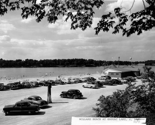 Willard Beach at Goguac Lake in 1950.