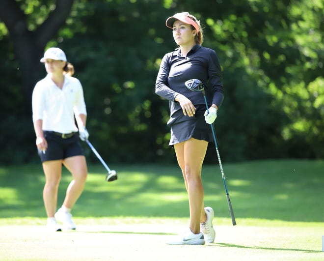 Jillian Hollis, No. 2 on the Symetra Tour money list, is one of the featured golfers this week at the FireKeepers Casino  Hotel Golf Championships at Battle Creek Country Club.