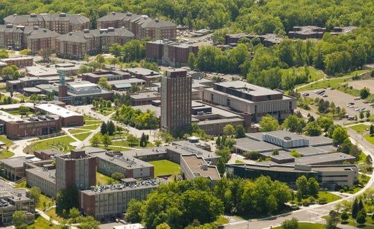 2014: Aerial view of Binghamton University.