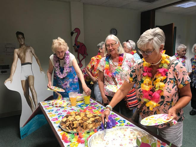 Ladies enjoyed some of Elvis' favorite foods, like peanut butter and banana sandwiches.