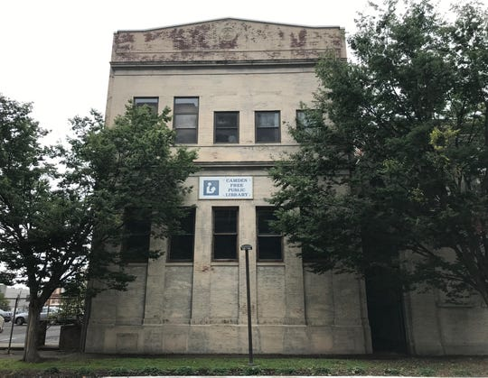A former library building, once a utility headquarers, is vacant on the 400 block of Federal Street in Camden.