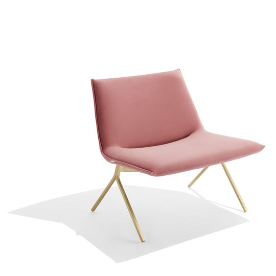 The Meredith Lounge Chair by Poppin makes sitting fashionable.