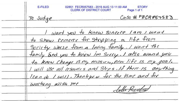 Man who's pleaded guilty to killing Iowa State golfer writes letter of apology to Story County judge