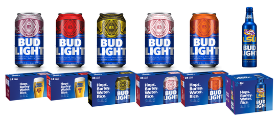 These select college teams will appear on limited edition Bud Light labels at the end of August, 2019.