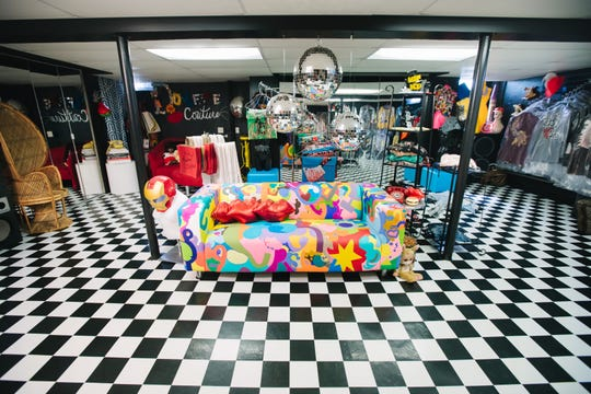 The interior of the Fun House of Style, an Allen Park home that's featured in the 2019 Detroit Weird Homes Tour.