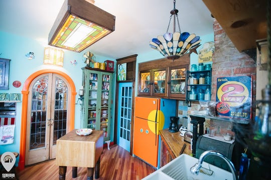 The kitchen of Ron's Recycled Roost, an east-side home featured in the 2019 Weird Homes Tour.