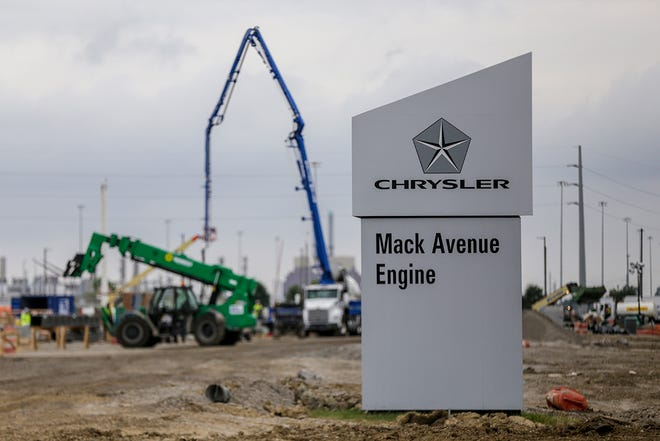 Fiat Chrysler Automobiles is updating the Jefferson North Assembly Plant and converting the Mack Engine factory into an assembly plant on the Eastside of Detroit, photographed on Tuesday, Aug. 13, 2019.