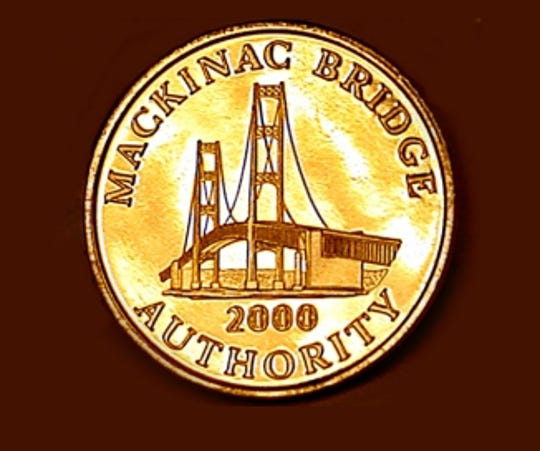 The Mackinac Bridge Authority has issued tokens over the years available in rolls of 24.