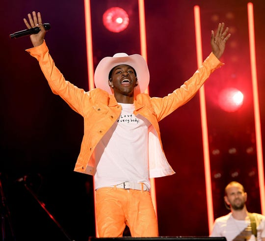 Lil Nas X performs onstage during the CMA Music Festival on June 8, 2019, in Nashville, Tenn.