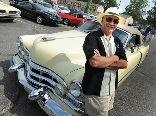 John Jendza poses with his 1951 Cadillac convertible at the Roseville Car Show in 2017.