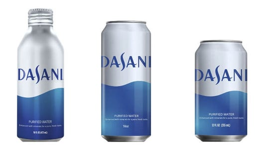 Coca-Cola Co.'s Dasani water line-up now includes aluminum cans as the beverage industry faces pressure to reduce its use of plastic.