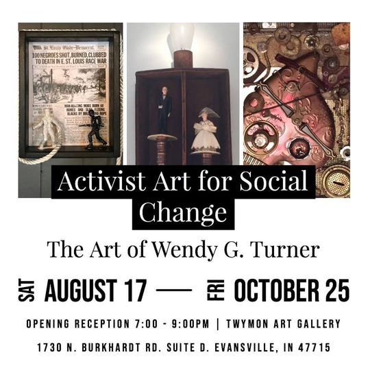 The reception for Activist Art for Social Change Saturday.