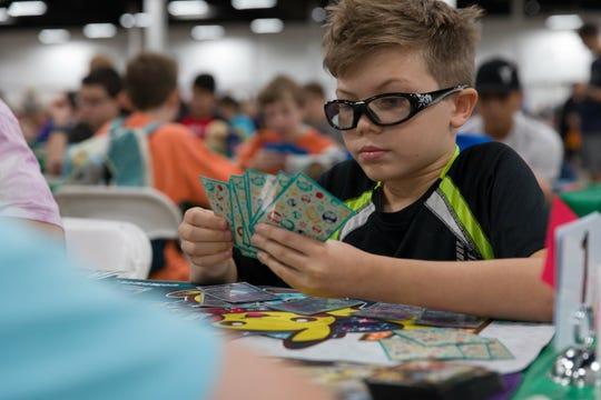 Cape Coral teen Regan Retzloff competes at the 2018 Pokémon World Championships in Nashville.