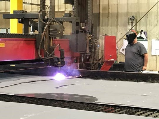 """Washington Island Ferry's newest ship under construction at Fincantieri Bay Shipbuilding in Sturgeon Bay, which is open despite Gov. Tony Evers' """"safer-at-home"""" order in wake of COVID-19."""