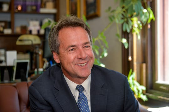 Gov. Steve Bullock sits down with the Great Falls Tribune in his office at the capitol building in Helena to answer questions about his time on the campaign trail.